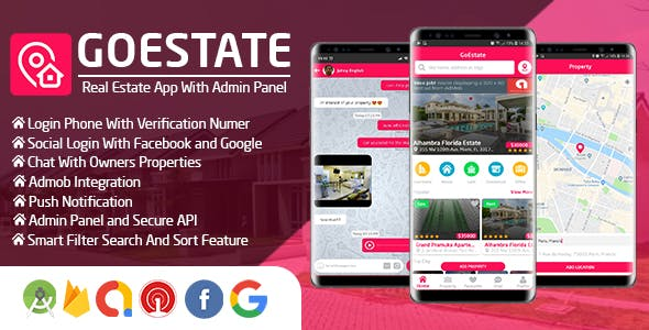 GoEstate – Real Estate App With Admin Panel