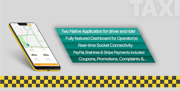 Taxi application Android solution + Dashboard v2.1
