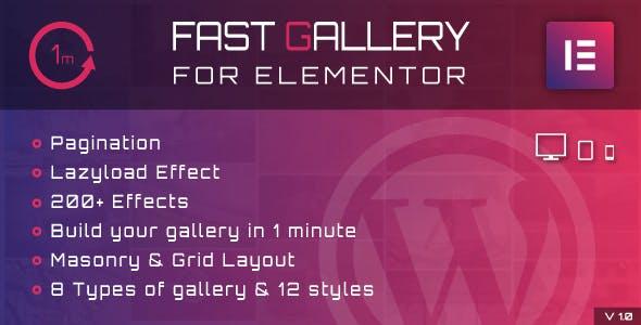 Fast Gallery for Elementor v1.0 – WordPress Plugin