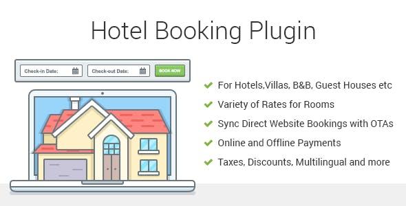 Hotel Booking v3.7.0 – Property Rental WordPress Plugin