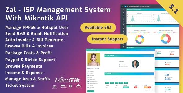 Zal v5.2.1 – ISP Management System With Mikrotik API