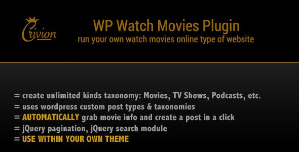WP Watch Movies & TV Shows Online v1.6