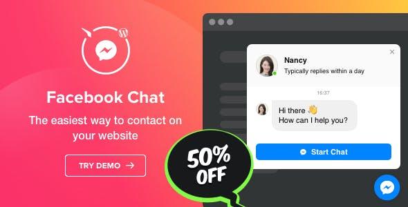 Facebook Chat v1.2.0 - WordPress Facebook Chat plugin