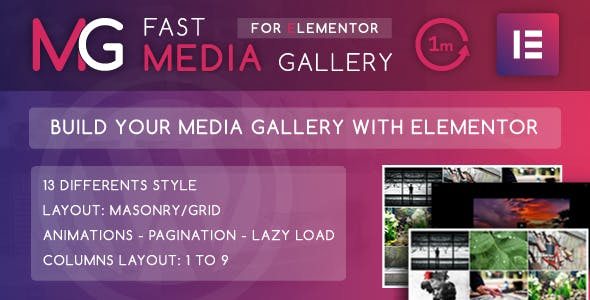 Fast Media Gallery For Elementor v1.0 – WordPress Plugin