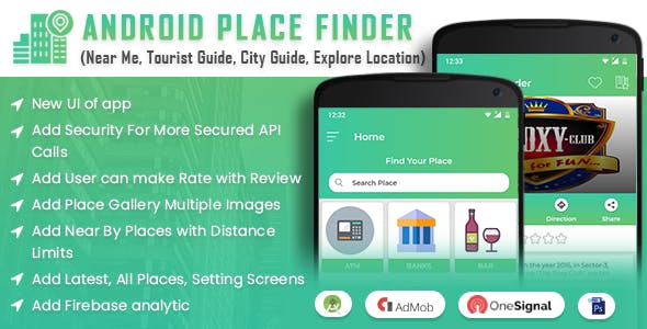 Android Place Finder (Near Me, Tourist Guide, City Guide, Explore Location, Admob with GDPR)