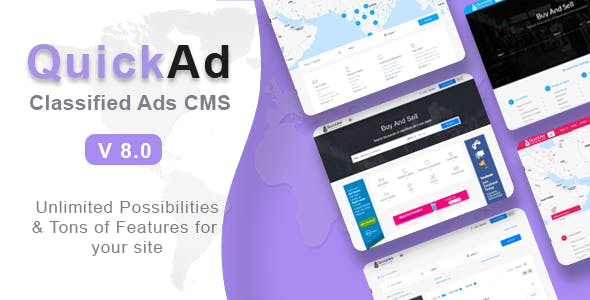 Quickad v8.2 – Classified Ads CMS PHP Script – nulled