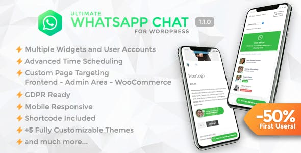 Ultimate WhatsApp Chat v1.1.0 – WordPress WhatsApp Chat Support Plugin