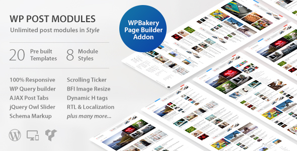WP Post Modules for NewsPaper and Magazine Layouts v2.6.1
