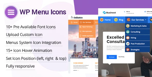 WP Menu Icons v1.1.0 – Effectively Add & Customize Icons For WordPress Menus
