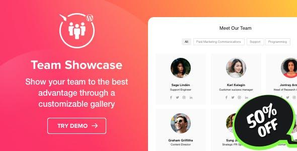 Team Showcase v1.0.0 – WordPress Team Showcase plugin