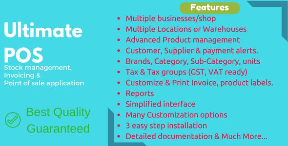 Ultimate POS v2.14.1 – Best Advanced Stock Management, Point of Sale & Invoicing application – nulled