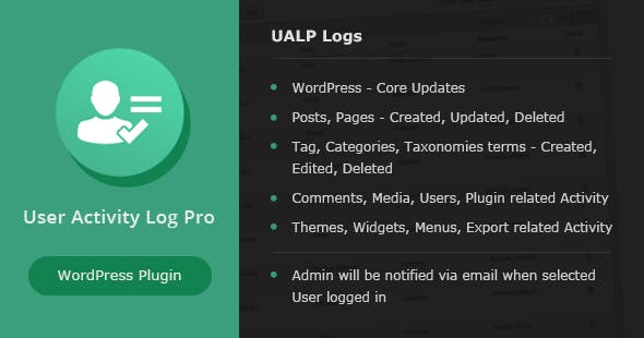 User Activity Log PRO for WordPress v1.5
