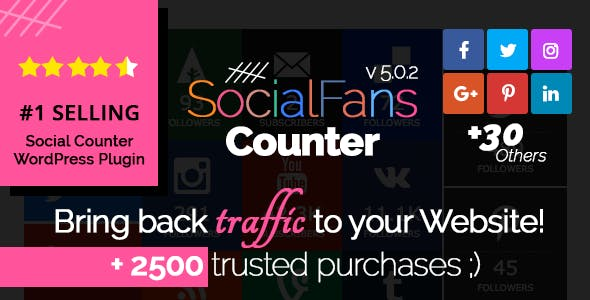 SocialFans v5.0.2 – WP Responsive Social Counter Plugin