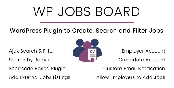 WP Jobs Board v1.4 – Ajax Search and Filter WordPress Plugin
