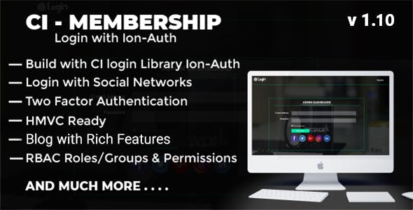 Codeigniter Login with Ion Auth, HMVC, Social Login and User management System v1.10