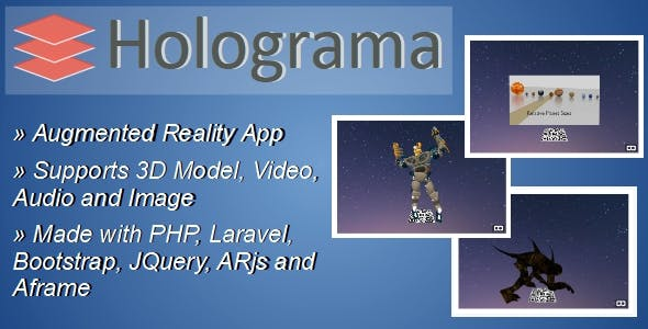 Holograma v1.0 - Augmented Reality Builder