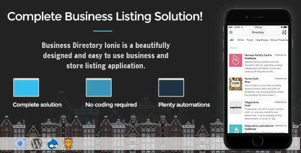 Business Directory Ionic 3 r16 - Full Application with Firebase and Backendless backend