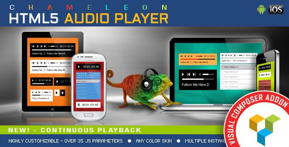 Chameleon Audio Player v1.3.2 – WPBakery Page Builder Addon