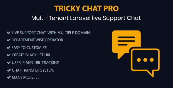 Tricky Chat Pro – Multi Tenant Live Support Chat