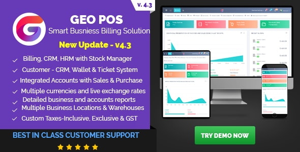 Geo POS v4.3 b79 – Point of Sale, Billing and Stock Manager Application