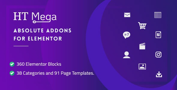 HT Mega Pro v1.1.0 – Absolute Addons for Elementor Page Builder