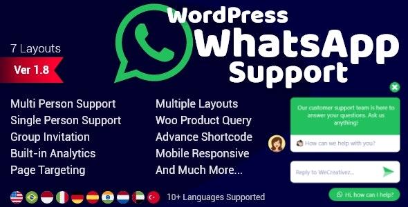 WordPress WhatsApp Support v1.9.4