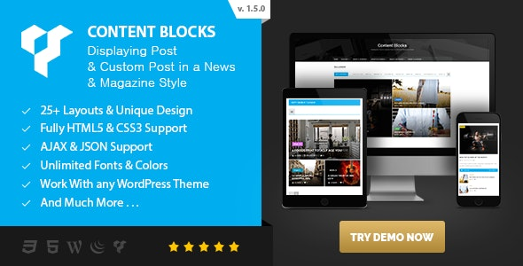 Content Blocks Layout For WPBakery Page Builder (Visual Composer) v1.5.0 – News & Magazine Style
