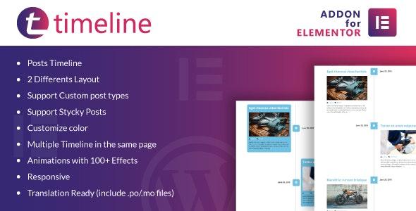 Timeline for Elementor v1.0 – WordPress Plugin