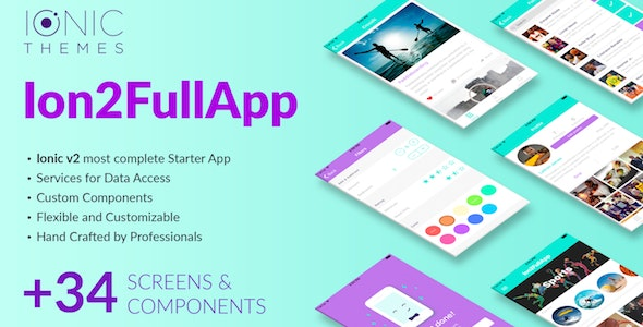 Ion2FullApp v1.1.3 – Full Ionic Template for Ionic 3+