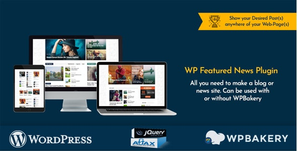 WP Featured News Pro v1.0 – Custom Posts Listing Plugin