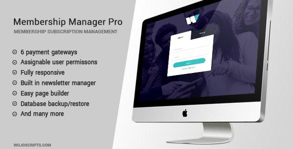 Membership Manager Pro v4.10