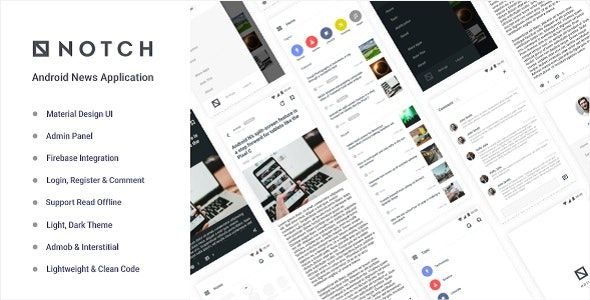 Notch – Android News Application