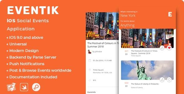 Eventik - iOS Social Events Application