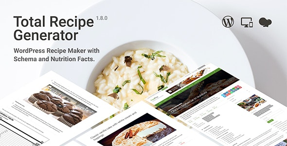 Total Recipe Generator v1.8.0 – WordPress Recipe Maker with Schema and Nutrition Facts
