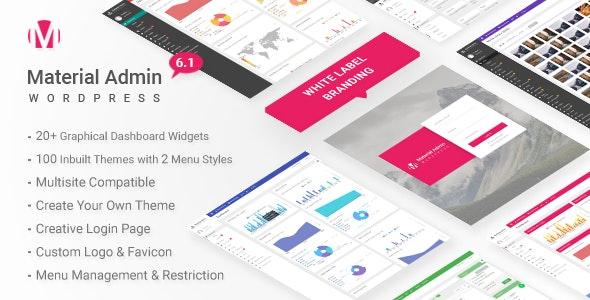 Material v6.1 – White Label WordPress Admin Theme