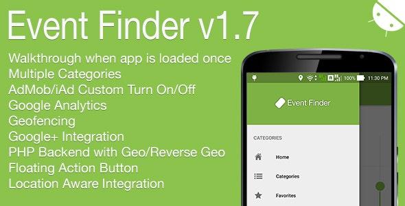Event Finder Full Android Application v1.7