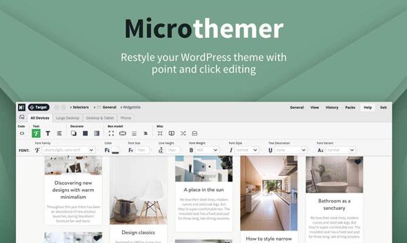 MicroThemer v5.8.2.4 – WordPress CSS Editor