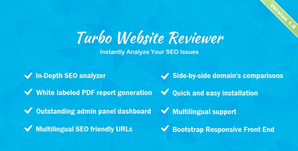 Turbo Website Reviewer v1.9 – In-depth SEO Analysis Tool