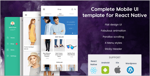 BeoStore v3.9.6 – Complete Mobile UI template for React Native