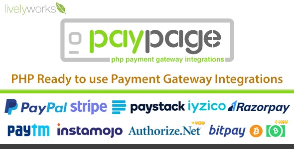 PayPage v1.2.0 – PHP ready to use Payment Gateway Integrations