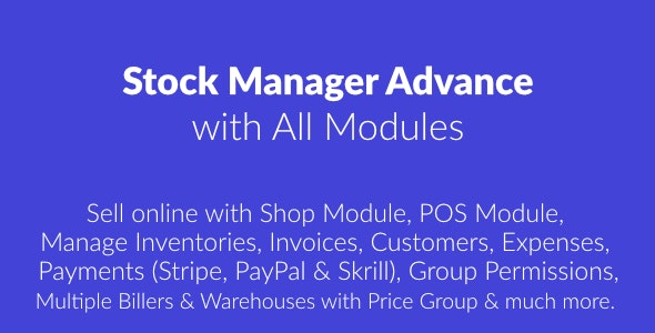 Stock Manager Advance with All Modules v3.4.47 - nulled
