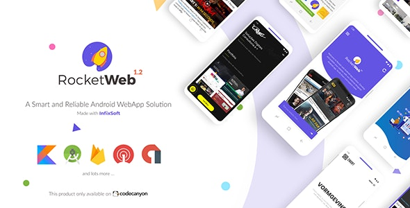 RocketWeb v1.2 – Configurable Android WebView App Template