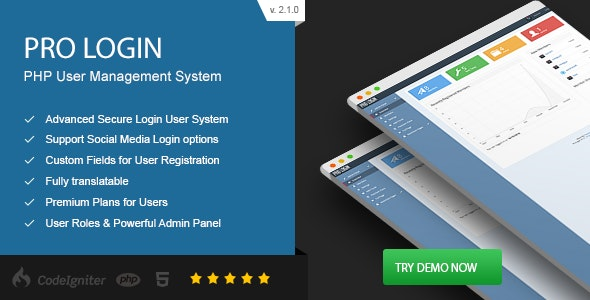Pro Login v2.1.0 – Advanced Secure PHP User Management System