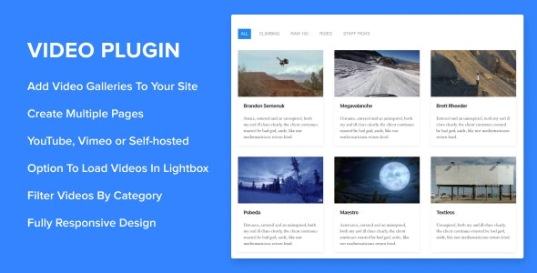 Sortable Video Embed v2.0.0 – WordPress Plugin