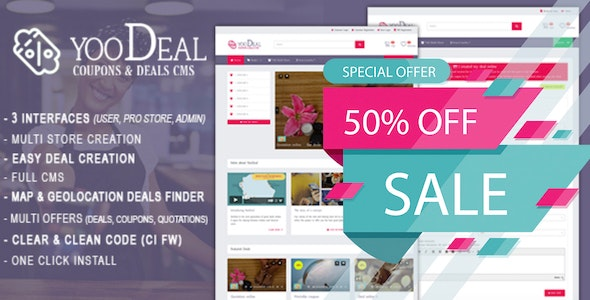YooDeal v1.2.1 - Coupon, Deal & Online Quotation