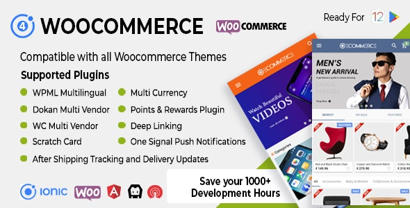 Ionic Woocommerce v3.0.1 – Universal iOS & Android Ecommerce / Store Full Mobile App