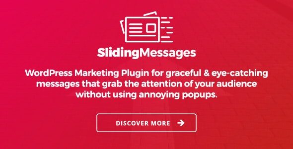 Sliding Messages v3.4 - WordPress Marketing Plugin