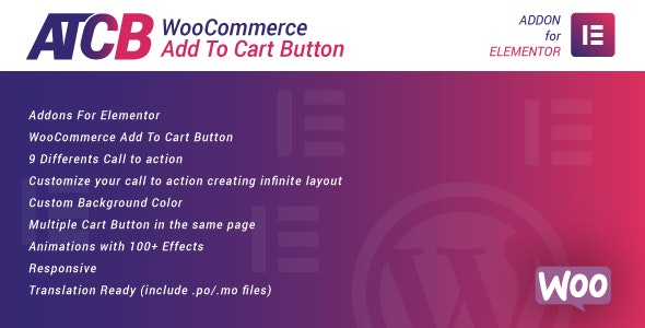 WooCommerce Add To Cart Button for Elementor v1.0