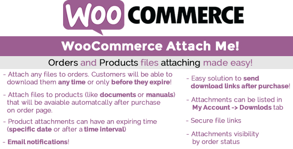 WooCommerce Attach Me! v20.0