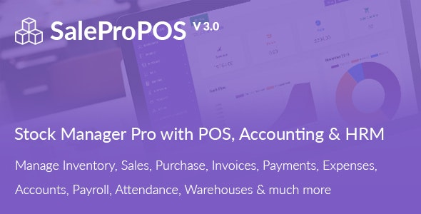 SalePro v3.0 – Inventory Management System with POS, HRM, Accounting